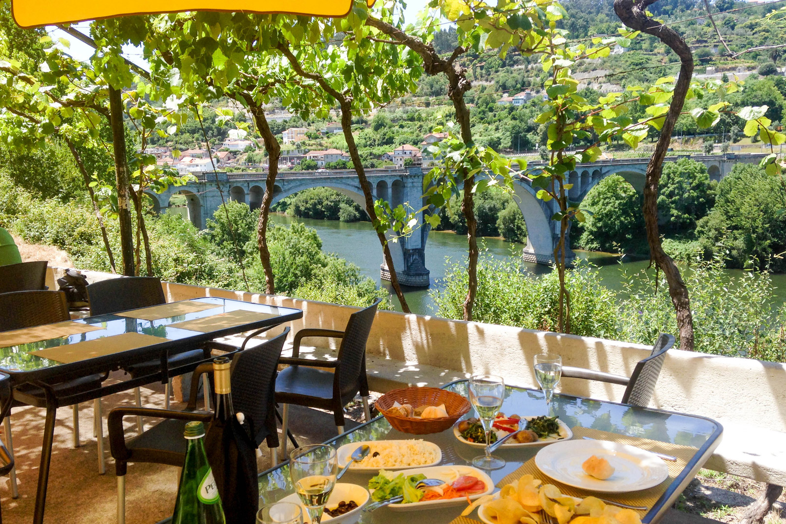 Lunch at a lovely outdoor restaurant we came upon while driving around the Douro River Valley