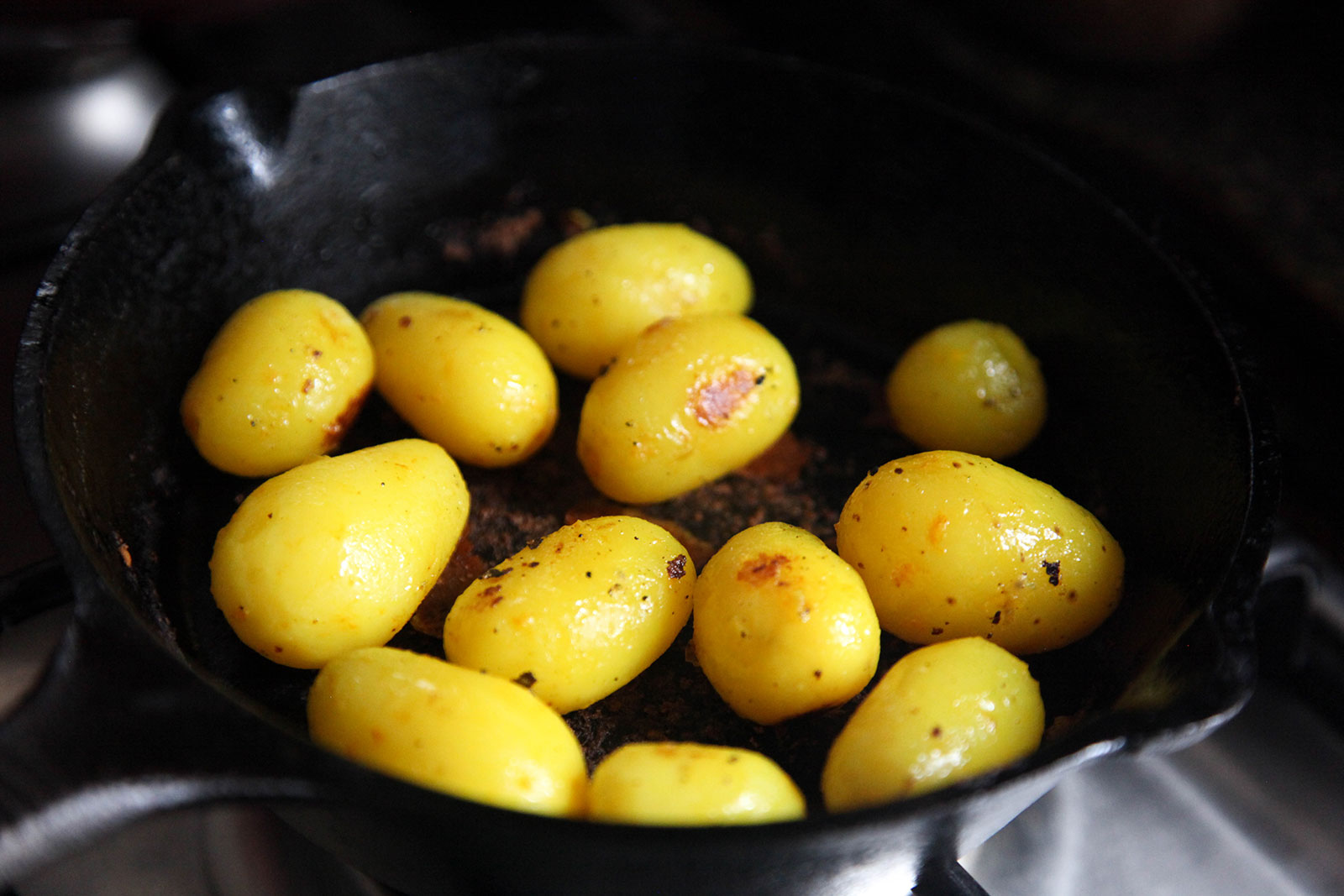 Potatoes for Sylheti Biron Polau -Turmeric Sticky Rice