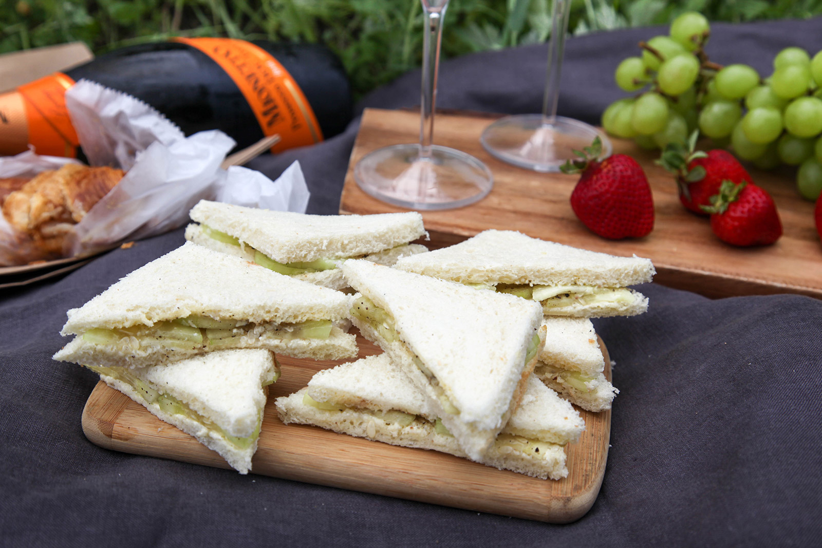 Cucumber Sandwiches are perfect for Picnics