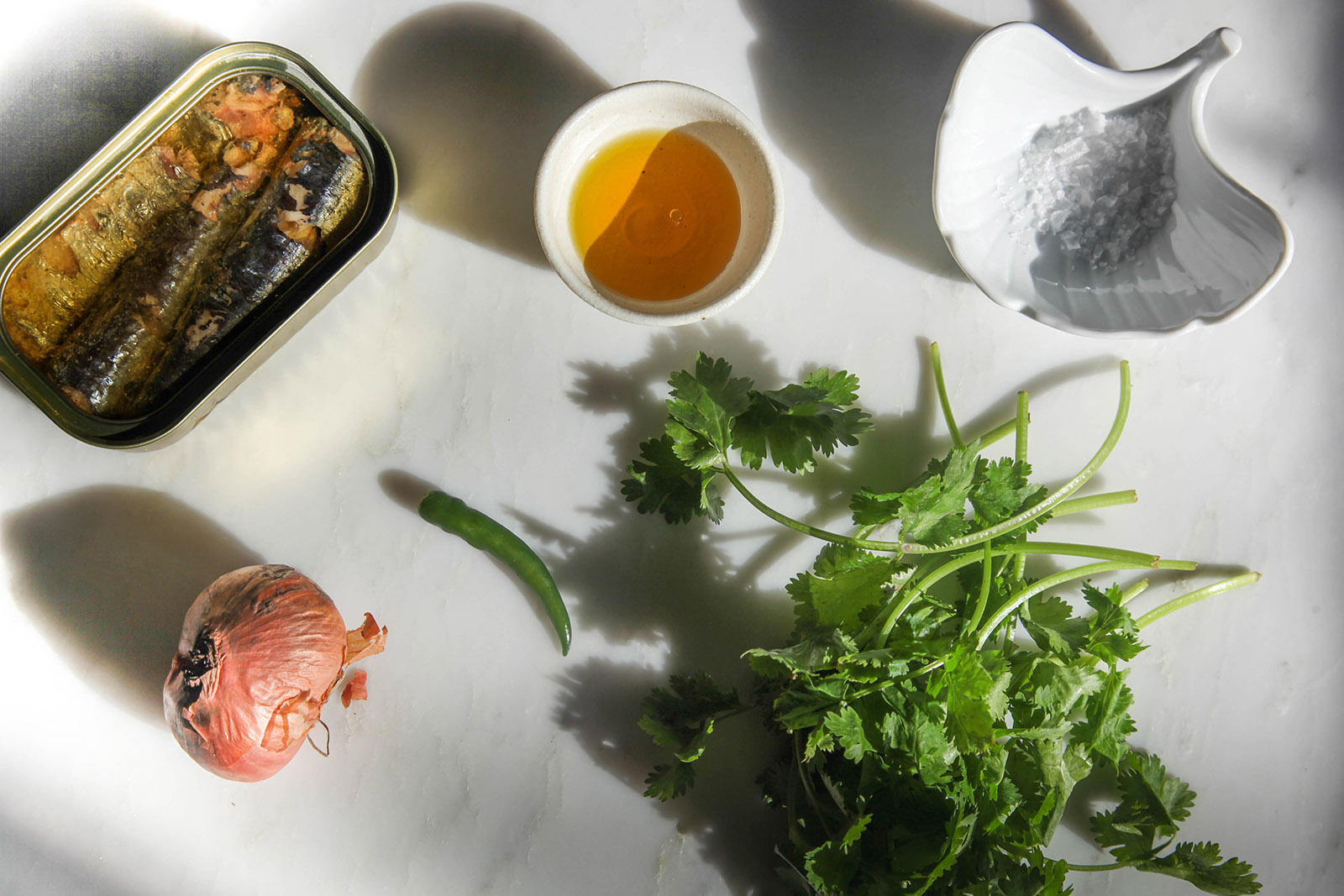Ingredients for Spicy Mashed Sardines