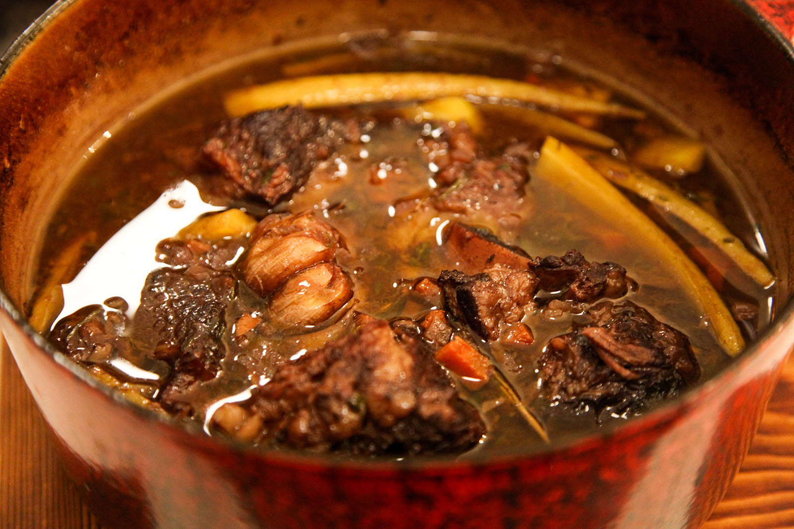 Short Ribs Braised with Red Wine