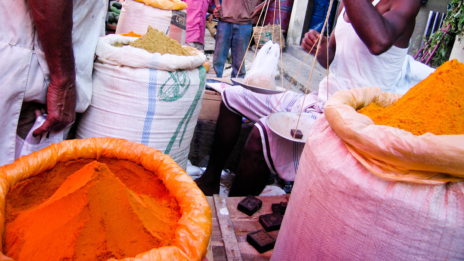 spices in farmer's market in Bangladesh