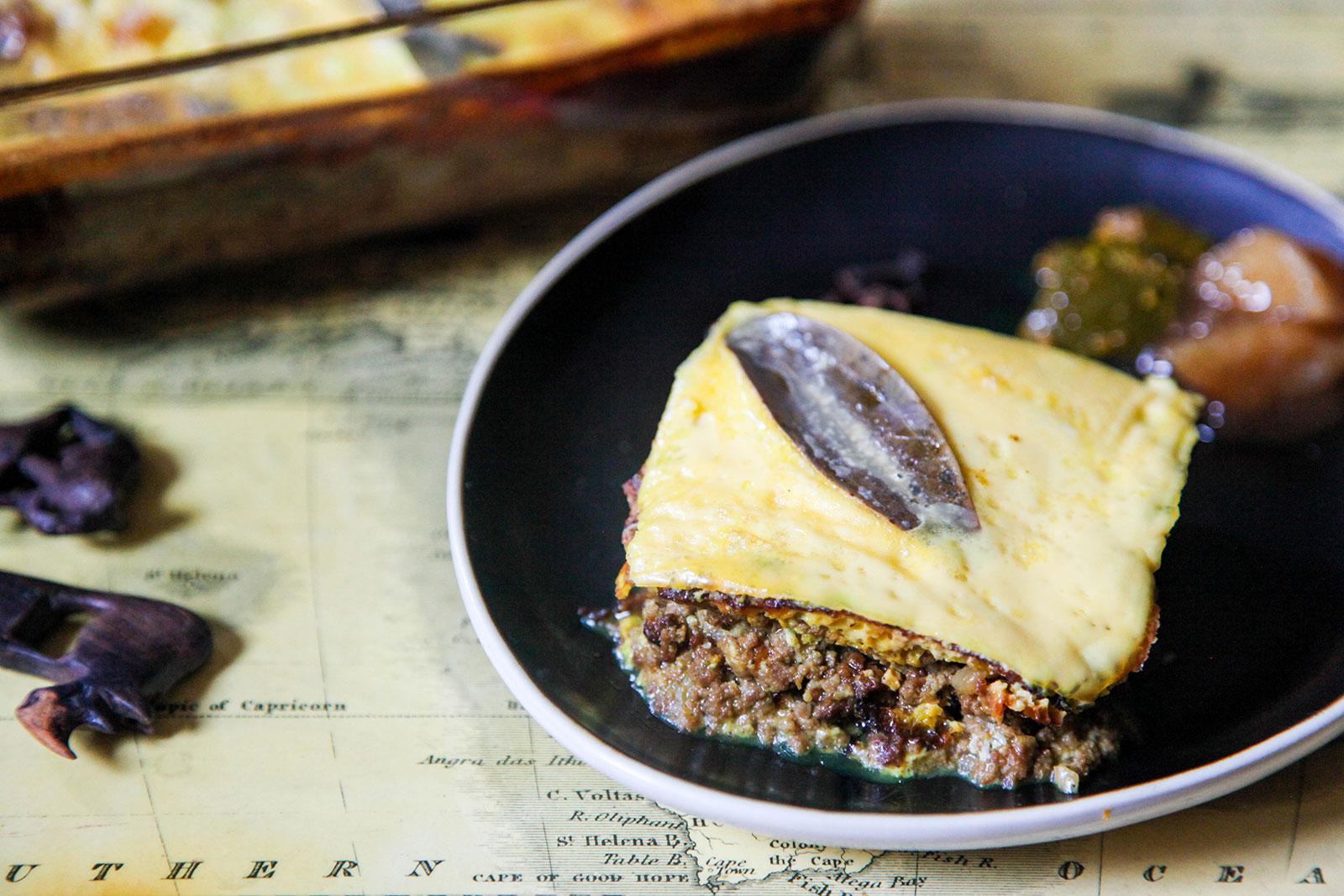 Bobotie: South African Ground Meat Custard
