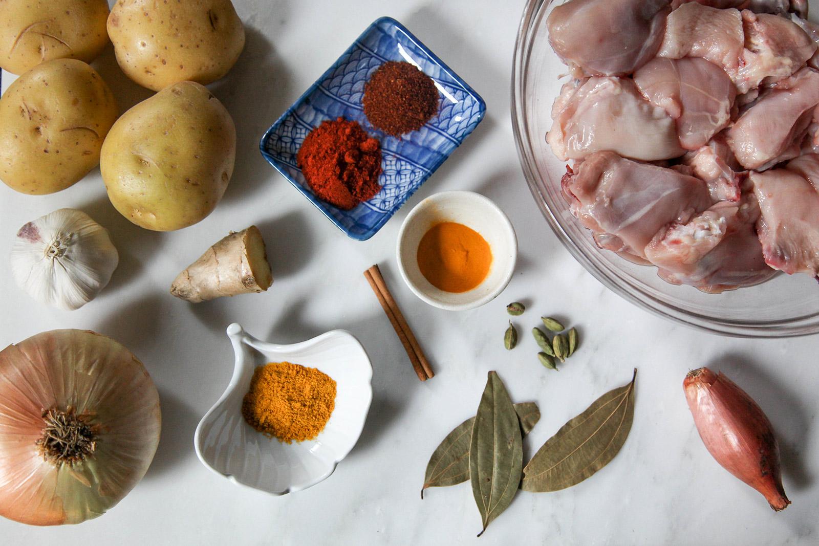 Ingredients for Munim's Bangladeshi Chicken Curry