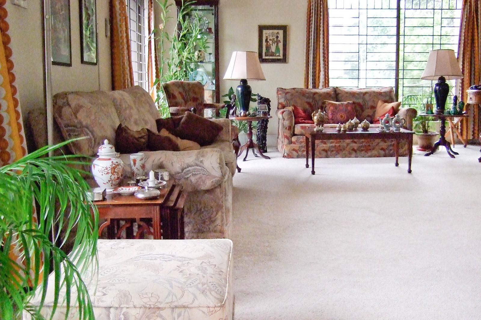 Our living room in Dhaka, Bangladesh. My dad would like to sit on the sofa here and read the papers in the mornings.