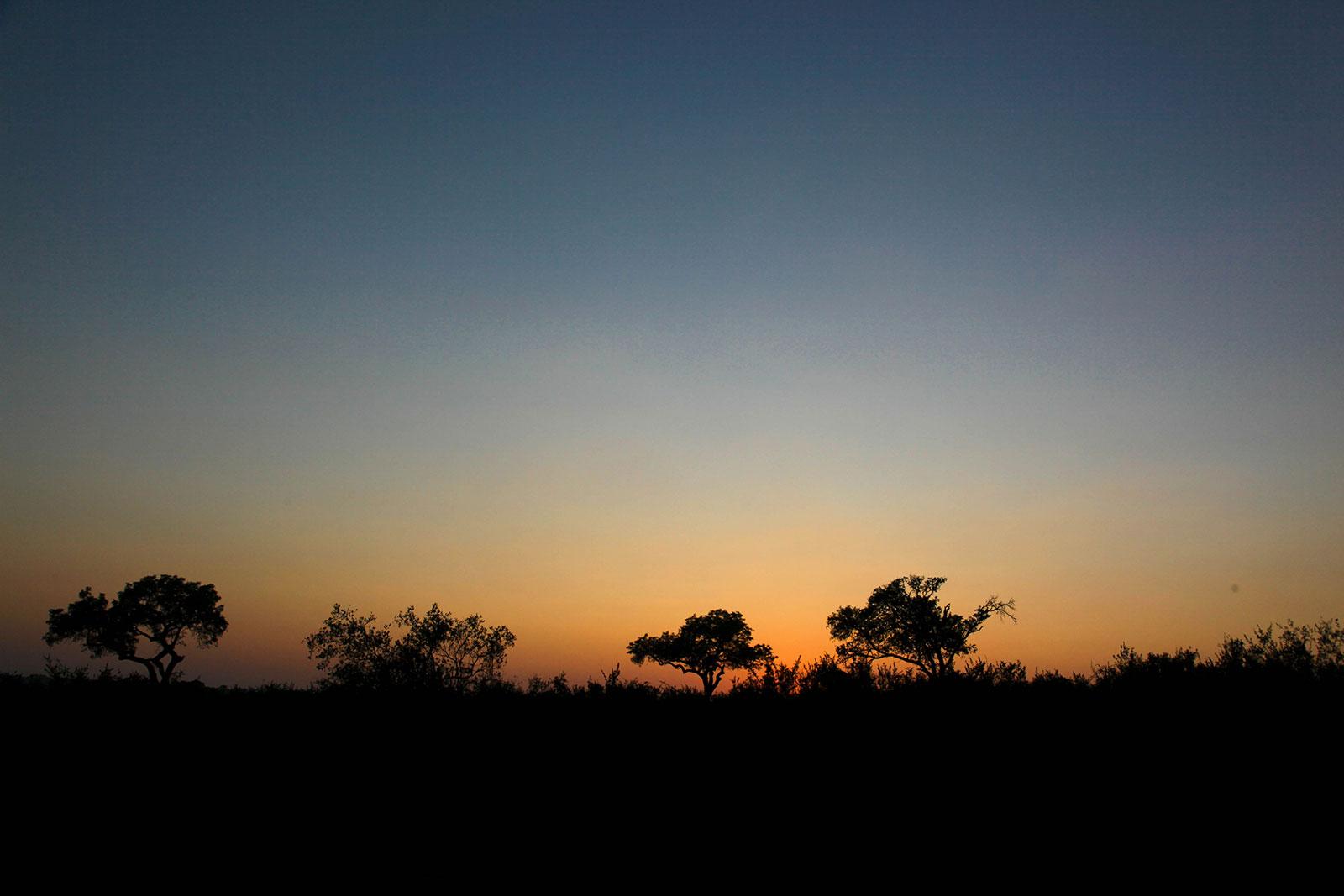 countryside, interior, at dusk
