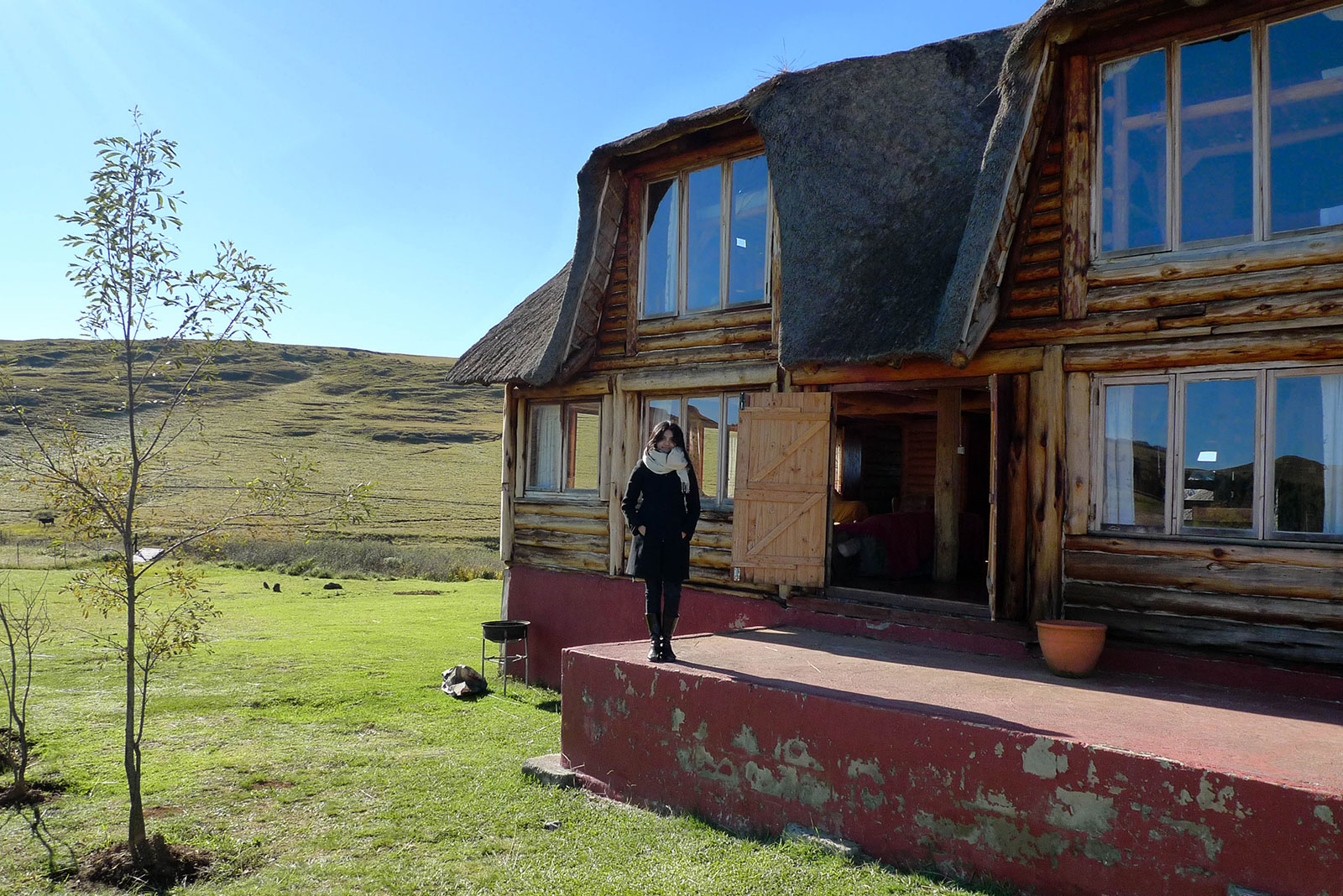the lodge we spent the night in, in the Drakensberg